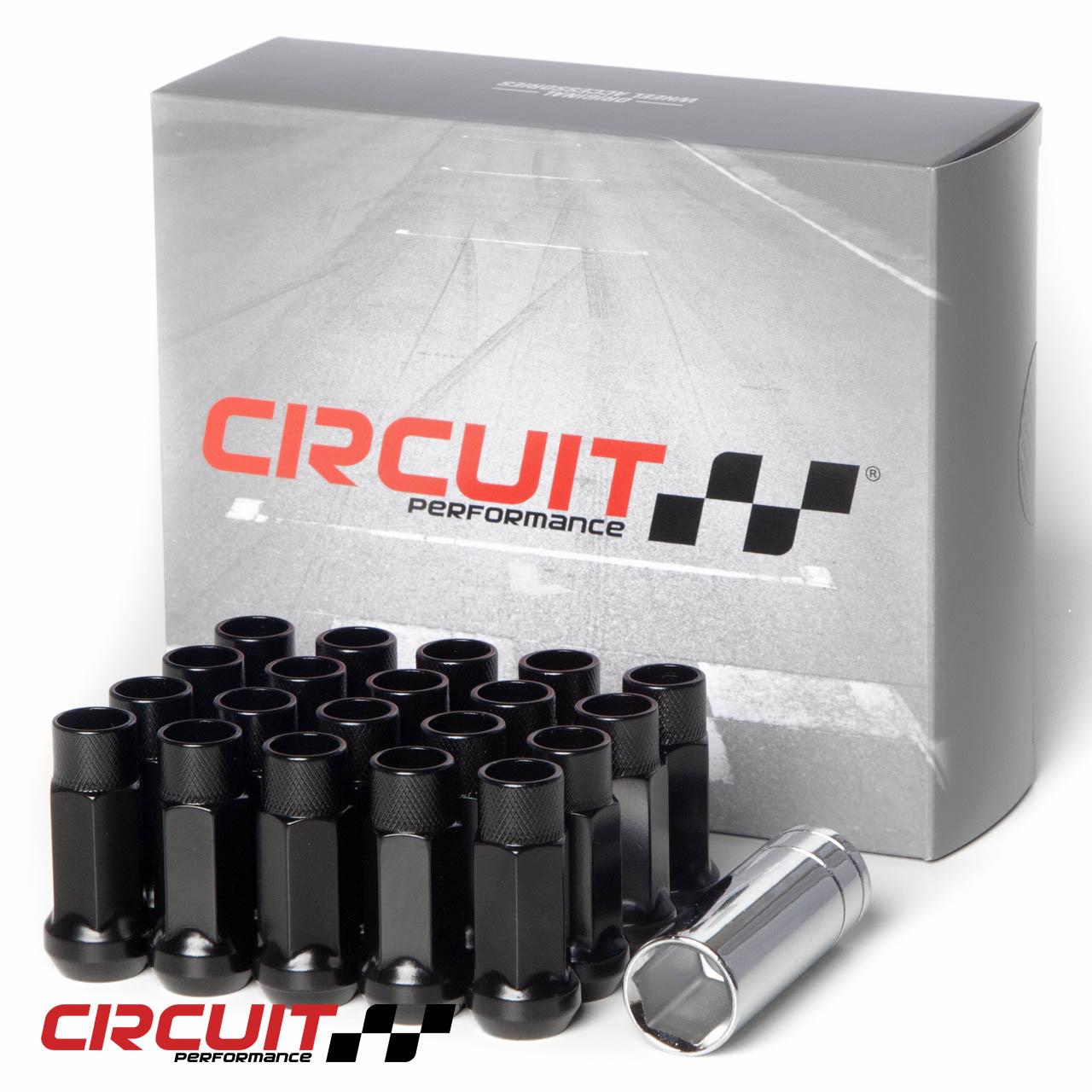 Precision 16 x Black Chrome Alloy Wheel Nuts and 4 x Locking Nuts for Ĥonda S2000 with Aftermarket Alloy Wheels PN.SFP-16NM10B+N10B155