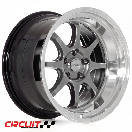Circuit Performance CP25 18x10.5 5x114.3 Hyper Black+22 Wheels