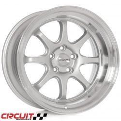 Circuit Performance CP25 18x10.5 5x114.3 Silver +22 Wheels