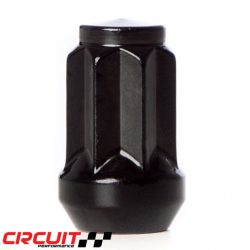 "Circuit Performance 1/2""-20 Forged Steel Star Spline Drive Lug Nuts Black"