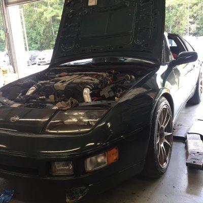 1996 Nissan 300ZX Z32 with 18x9 Hyper Black CP32 Wheels