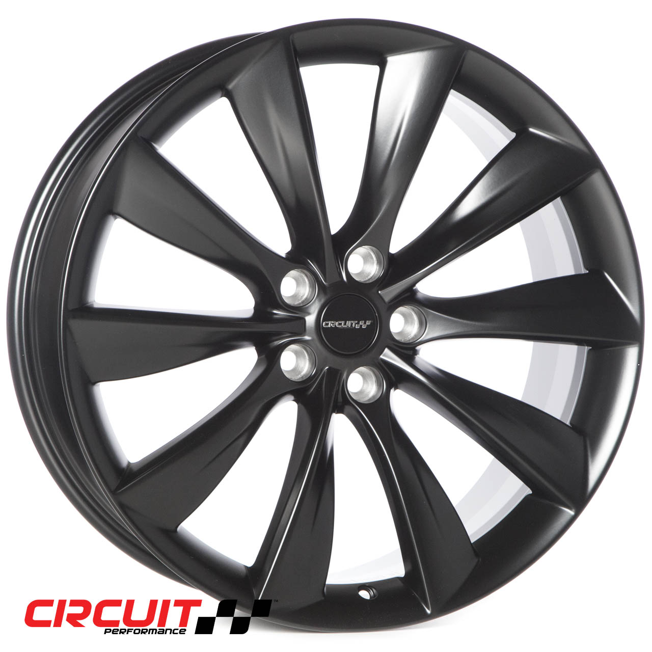 CP12 21x8.5 Flat Black 5x120 et40 Wheel - Circuit Performance